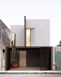 33 most popular modern dream house exterior design ideas 8 Modern Residential Architecture, Minimalist Architecture, Concept Architecture, Facade Architecture, Japanese Architecture, Sustainable Architecture, Facade Design, Exterior Design, Modern Townhouse