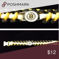 Boston Bruins Paracord Bracelet 14 year old Nathan has been making Paracord accessories since he was just 9 years old. This is a beautifully crafted bracelet with your favorite team's logo on the charm. Accessories Jewelry