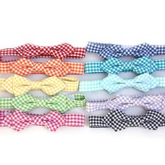 Gingham Wing Tip Preppy Bow Tie for Boys / Child.