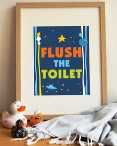 INSTANT DOWNLOAD  -  Flush The Toilet - Kids art