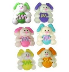 Royal Icing Easter Bunnies White Bunnies, Royal Icing Decorations, Egg Decorating, Confectionery, Green And Orange, Easter Bunny, Perfect Wedding, Smurfs, Hello Kitty
