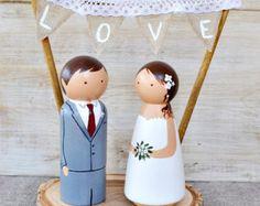 rustic wedding cake topper – Etsy IT