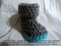Mamita Querida: Tutorial:Botitas de bebe al crochet (Crochet baby boots)