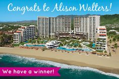 Congrats to Alison, the winner of a 5-night all-inclusive stay at Now Amber Puerto Vallarta! Stay tuned for the NEXT All Inclusive Outlet giveaway in a few months!