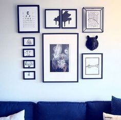 We love the way that @mauderl has incorporated our miniature black resin bear head in this gorgeous monotone gallery wall! The blues and blacks look stunning together! Thank you for sharing!