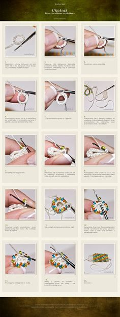 Crochet Tutorial Ideas So hoping this will be an easier way to start bead crochet rope.giving it a try today. Bead Crochet Patterns, Bead Crochet Rope, Crochet Designs, Beading Patterns, Crochet Beaded Bracelets, Beaded Crochet, Crochet Necklace, Beading Projects, Beading Tutorials