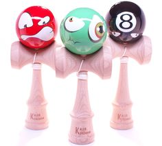 Kendama Faces - 9 designs to pick from - #kendama http://www.kalebkendama.com/collections/faces