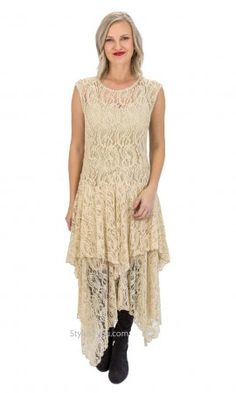 Abigail Layered All Lace Dress With Slip In Stone Verducci Dress Lace Dresses, Neutral Tones, Open Cardigan, Mix Match, Dress P, Taupe, Layers, Slip On, Stone
