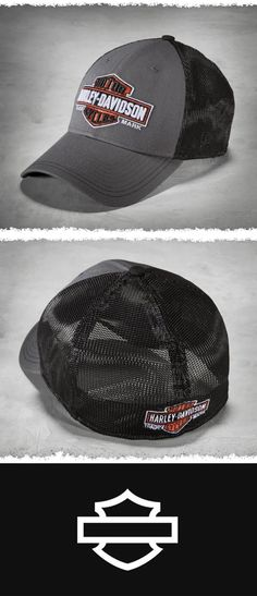 Retro trucker styling with a modern stretch fit.  2735c089fd8