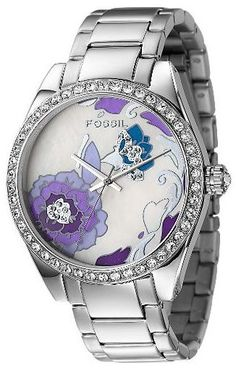 Purple Floral Ladies Watch by Fossil  #AllAboutTheColor#OPIEuroCentrale #YoureSuchABudaPest