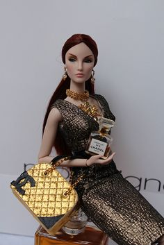 Elise is modelling for Chanel! Chanel purse is by La Boutique. Jewels by me, available on etsy www.etsy.com/shop/IsabelleParisJewels