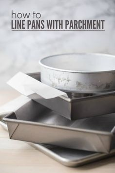 How to Line Pans with Parchment: this easy hack will guarantee you'll never have anything stick to the pan! #baking #bakingpans #parchment #paper #cookies #cake #brownies #bars #cheesecake #rectangular #square #round #cookiesheets #simple #hacks #tips #trays #sheetpans