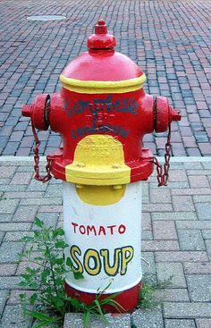 Campbell's Soup Can Fire Hydrant