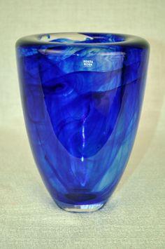 KOSTA BODA Atoll Vase Blue by Anna Ehrner Sweden