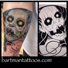 A Banshee tattoo done by Bart. Portrait, Tattoos, Artist, Tatuajes, Men Portrait, Tattoo, Artists, Portrait Illustration, Japanese Tattoos