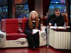 Silvia Abril & Andreu Buenafuente. BFN Buenafuente T.V show Sofa 600 + Vespa chair