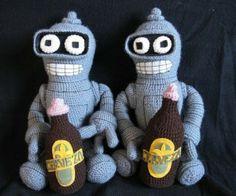 Baby Bender Amigurumi: Bite My Shiny Metal Robo-Diaper