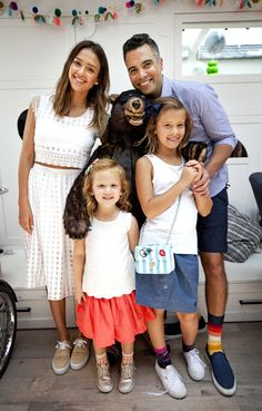 Pair of Thieves Family Day from Party Pics: Hollywood Jessica Alba and Cash Warren bring along their kids to Au Fudge for the event hosted by Warren's sock company.