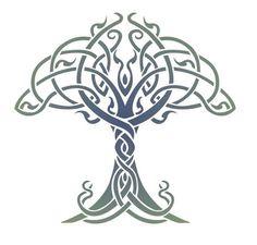 dit is een levensboom in de celtihc stijl.