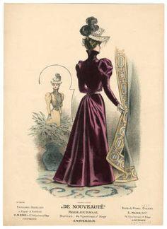1895-1898, Plate 123 :: Costume Institute Fashion Plates