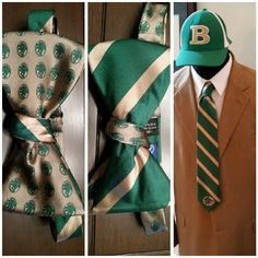 "The Buford HS ""The Pack"" 2-Sided Bowtie & Necktie.  #bufordhighschool #buford #bowtieitup #fundraiser #pvneckwear"
