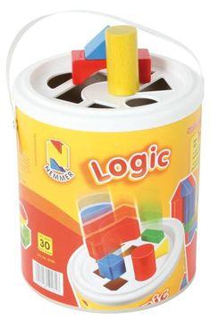 Logic Steckspieltrommel 30 farbige Holzbausteine | 2602