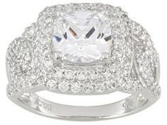 Bella Luce(R) 5.36ctw Rhodium Plated Sterling Silver Ring