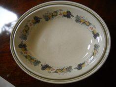 "Royal Doulton Lambeth Stoneware Harvest Garland Serving Bowl 10 3/4"" x 8 3/8""   eBay"
