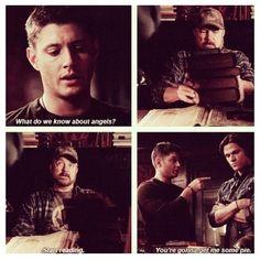 Dean sure loves his pie