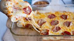Deep Dish pizza casserole. Ditch delivery and make this easy, ooey-gooey cheesy deep-dish instead!