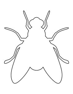 Fly pattern. Use the printable outline for crafts, creating stencils, scrapbooking, and more. Free PDF template to download and print at http://patternuniverse.com/download/fly-pattern/