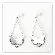 Earring Butterfly, Animal Earring, Silver Earring, Diamond Earring, Gift For Her, Popular ... $41