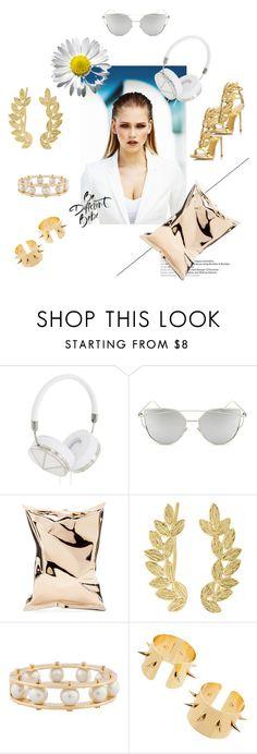 """White & Gold"" by marikiki1 on Polyvore featuring MISCHA, Frends, Chicnova Fashion, Anya Hindmarch, Eddera, Lele Sadoughi and Giuseppe Zanotti"