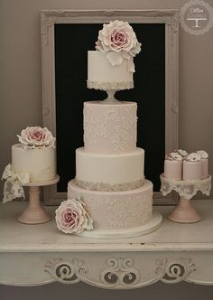 Rose and Lace wedding cake | Flickr - Photo Sharing!