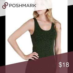 Burn Out Tank Top In Dark Olive Soft and stretchy burn out tank tops are the newest trend in summer fashion.  They are made with higher quality yarns to make them ultra soft.  Side by side weaving keeps the tank in place and does not ride up.   *92% nylon, 8% spandex  *hand wash in cold, hang to dry Nikibiki Tops Tank Tops