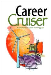 """(LP) Career Cruiser - links to a PDF """"workbook"""" guiding students through identifying interests and values, exploring clusters, and considering logistics (finance, schooling, etc). Best for older students but could modify Discover the """"U"""" in Values and """"Personality Rocks!"""". Like the """"Who are you?"""" """"Where are you going?"""" """"How do you get there?"""" framework."""