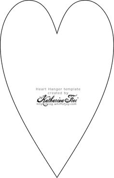 Трафарет для сердца из бумаги
