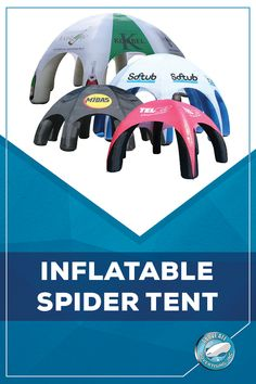 Buy our blow up spider tent with your brand name, logo or business name displayed on it will surely grab the attention of potential customers. Tents, Brand Names, Spider, Camping, Sign, Teepees, Campsite, Spiders, Tent