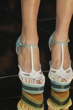 John Galliano peeptoe shoes