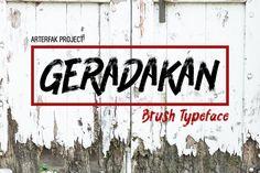 Geradakan by Arterfak Project on @creativemarket #font #type #grunge