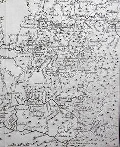 """1794 Russia Map Irtysh River, Steppe of Northeast Kazakhstan Russia. """"Carte Des Monts Altaisk et des Deserts Salins Qui Les Avoisinent"""""""