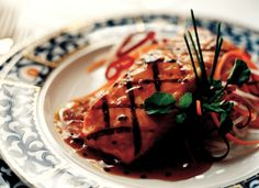 Holland America Line menus are diverse and varied. Here's a great recipe for Balsamic Maple Glazed Salmon #cruiserecipes