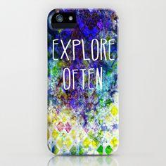 Explore Often iPhone & iPod Case by Sandra Arduini | Society6