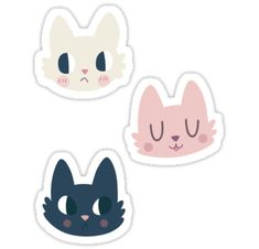 Three cute, colourful kitties to decorate your stuff! • Also buy this artwork on stickers.