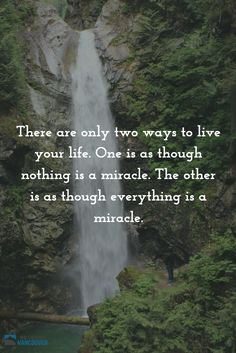 There are only two ways to live your life. One is as though nothing is a miracle. The other is as though everything is a miracle. ~ Albert Einstein  #qotd #quotes #einstein