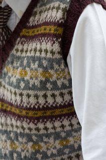 Ravelry: What His Is Hers Fair Isle Vest pattern by Joanne Yordanou Fair Isle Knitting Patterns, Vintage Crochet Patterns, Fair Isle Pattern, Vest Pattern, Knitting Charts, Sweater Knitting Patterns, Vintage Knitting, Knitting Stitches, Knitting Designs
