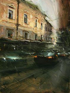 'Hasty Day' by Tibor Nagy Oil ~ 16 x 12