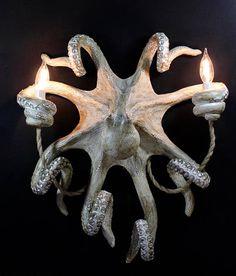 Handmade Octopus Wall Sconce