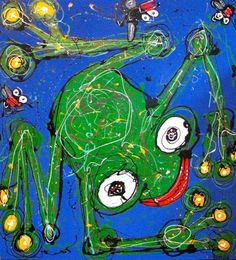 Figurative Art - Anthony Breslin - Blue Frog