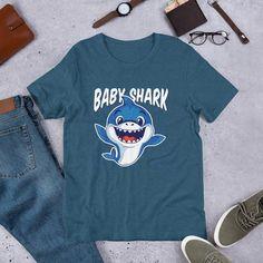 1Tee Homme Papa Shark Doo Doo T-Shirt